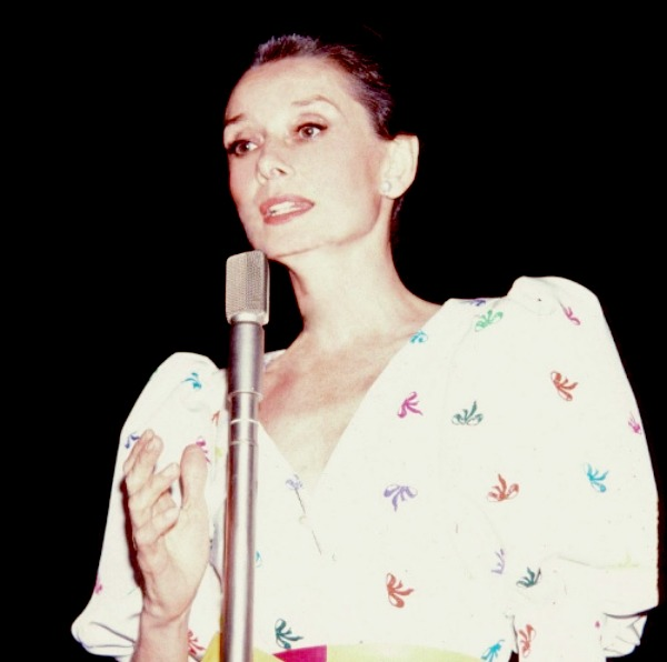 Audrey Hepburn in Japan in 1983.