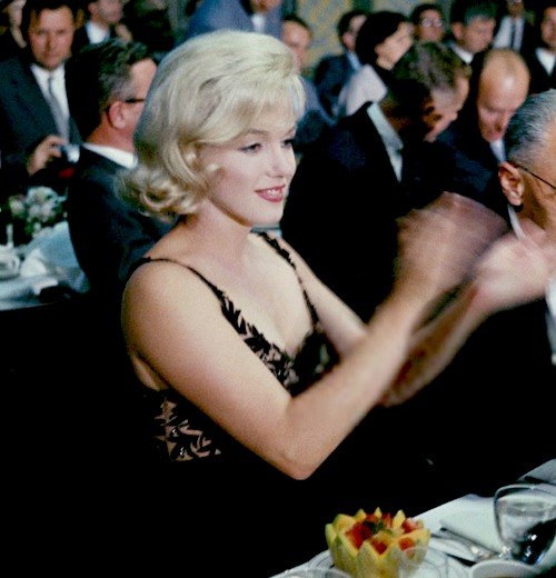 Marilyn at Nikita Kruschevs Luncheon at Twentieth Century Fox in September 1959.