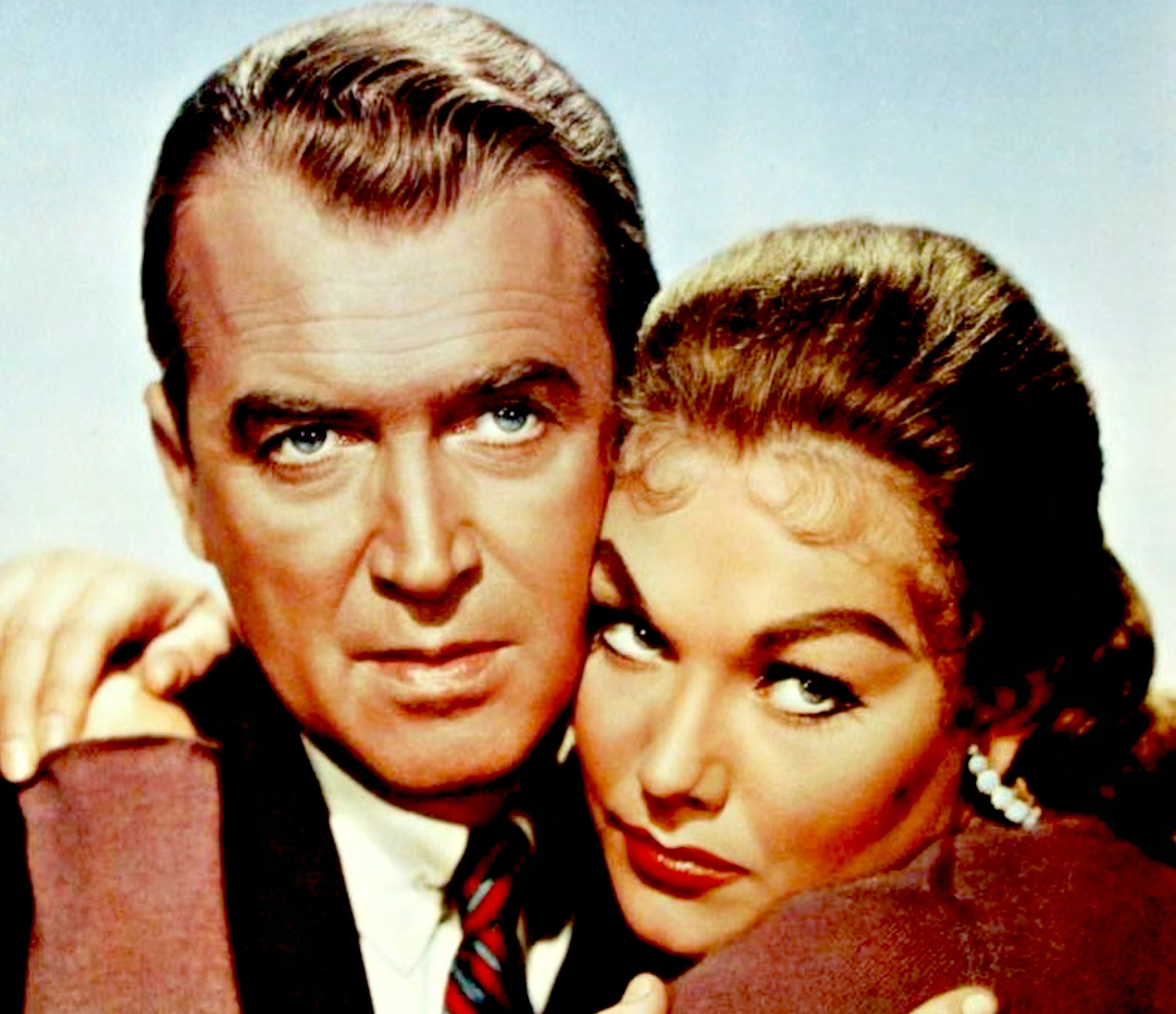 James Stewart and Kim Novak in Vertigo (1958)